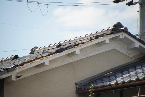台風21号の被害 剥がれ落ち1