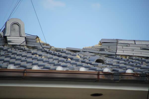 台風21号の被害 全部が壊れる2