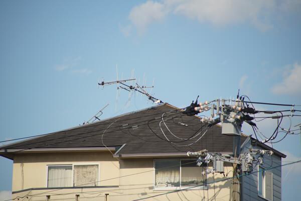 台風21号の被害 アンテナ破損2